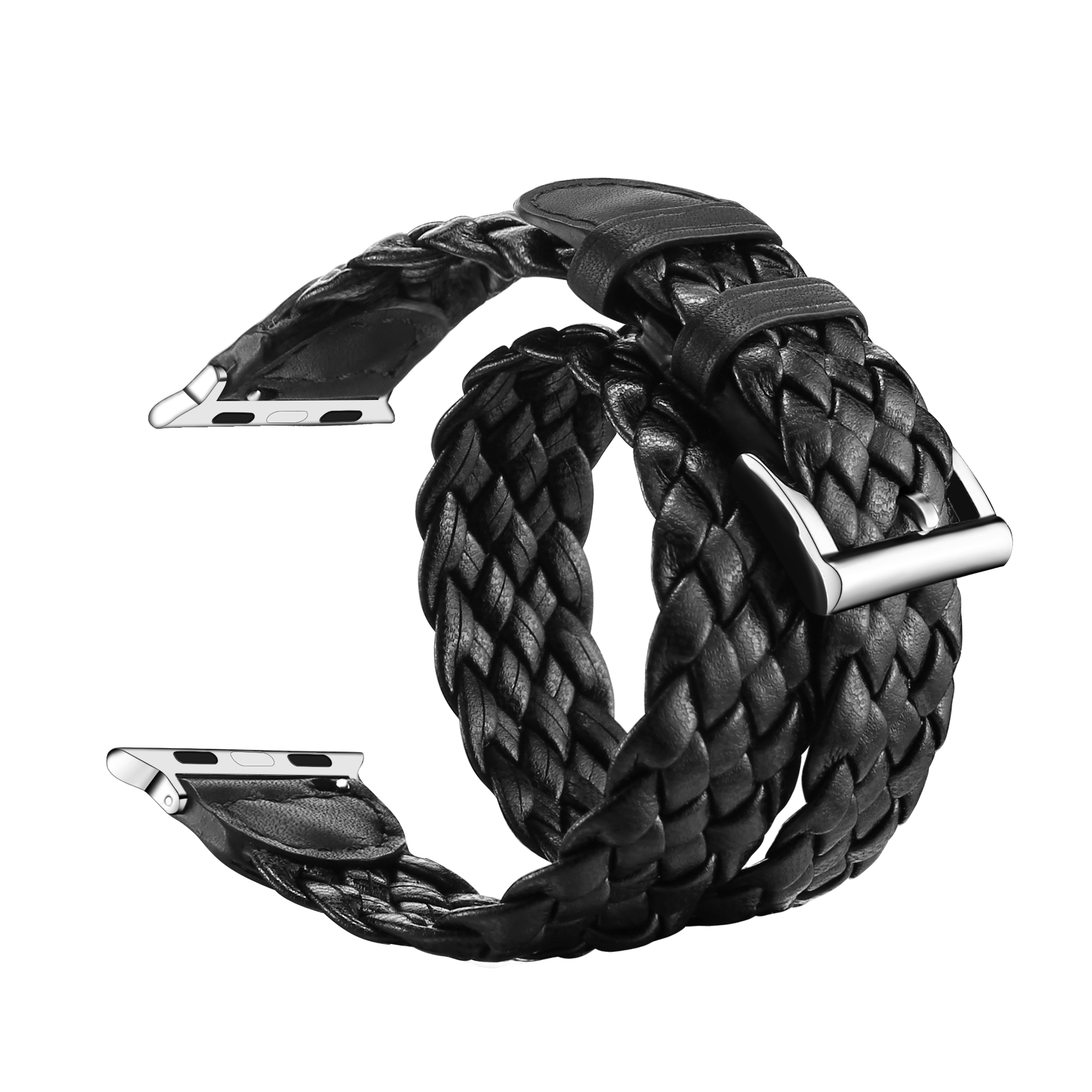 Leather Braided Apple Watch Band